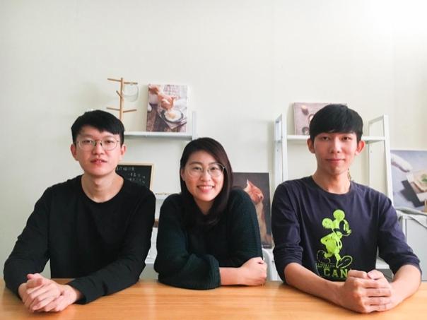 好味小姐三位共同創辦人,由左至右分別為黃奕傑、陳璻安、尤葦帆。圖:創夢實驗室/提供
