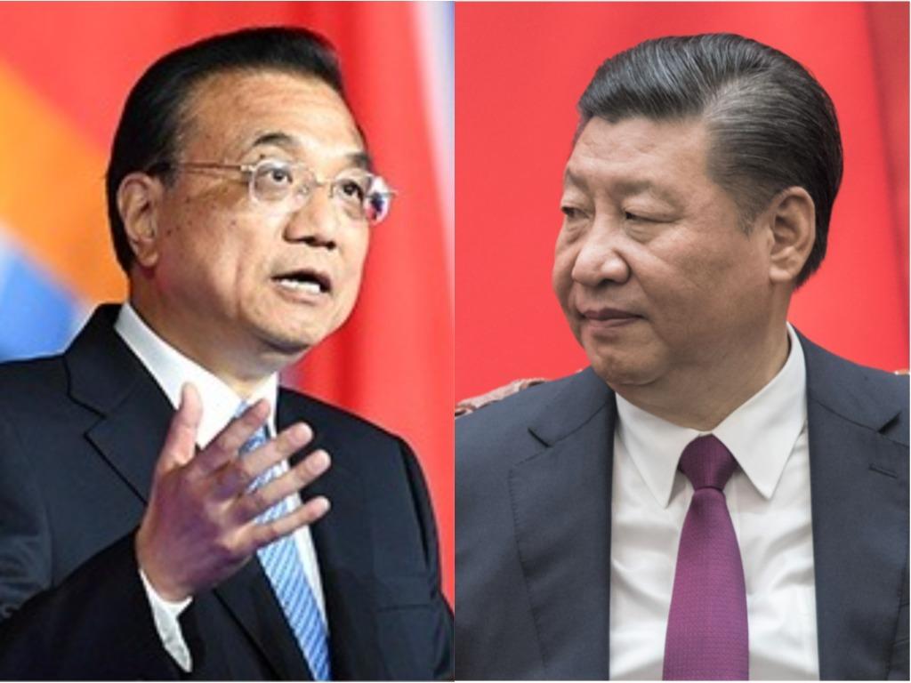 中國國務院總理李克強(左)與中國國家主席習近平。圖:新頭殼合成
