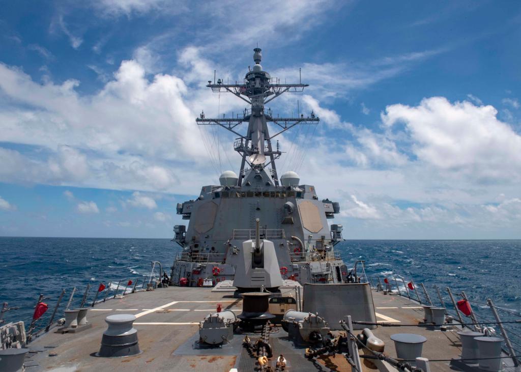 今年第8度!聯合日本演習後 美驅逐艦通過台灣海峽