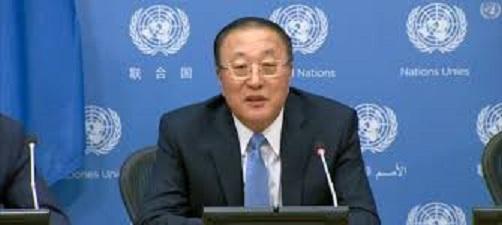 中國駐聯合國大使張軍。圖 : 翻攝自news.un.org
