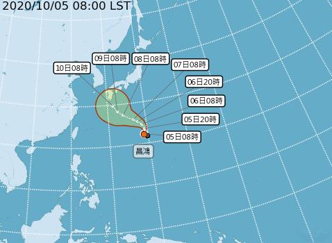 輕颱昌鴻恐增強至中颱!氣象局:7、8日路徑變化是關鍵