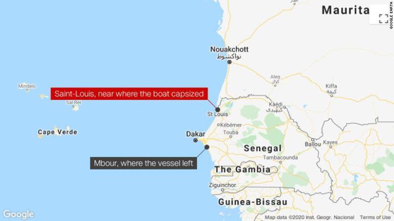 根據CNN報導,一艘載了200人的難民船不幸發生船難,造成約140人死亡,是今年以來最嚴重的船難事件。圖 : 翻攝自google地圖