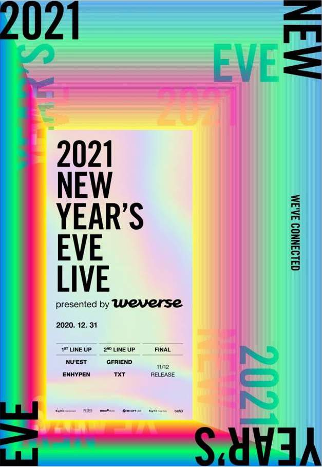 Big Hit娛樂將在12月31日舉辦《2021 New Year's Eve Live》。   圖:翻攝自Big Hit Entertainment