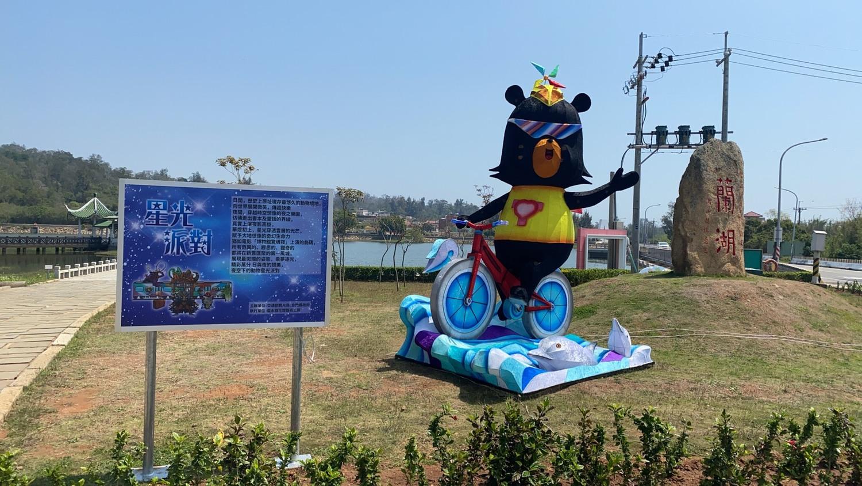 「喔熊組長」也有在金門燈藝節展出。圖:交通部觀光局/提供