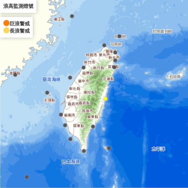 台灣這3處沿海地區將有長浪!氣象局:花蓮已浪高2.2米