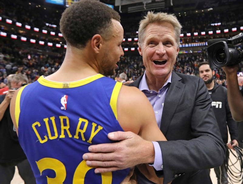 NBA/ 勇士主帥透露 柯瑞傷勢好轉明能出戰公鹿