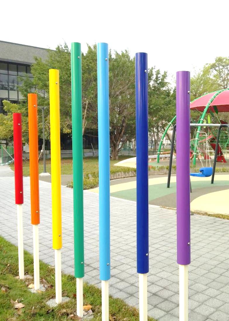 公園內設置七階音樂管。圖:台中市政府/提供