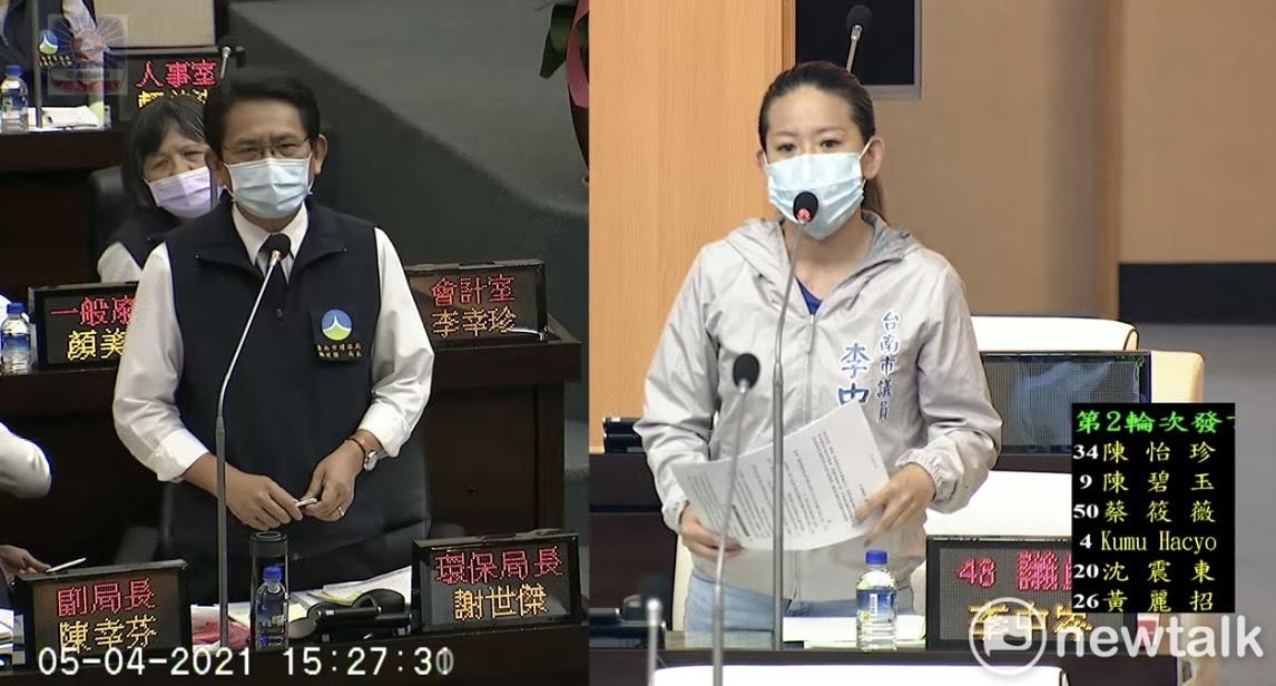 國民黨籍市議員李中岑等人表態支持垃圾減量和透明垃圾袋政策。圖:黃博郎/攝