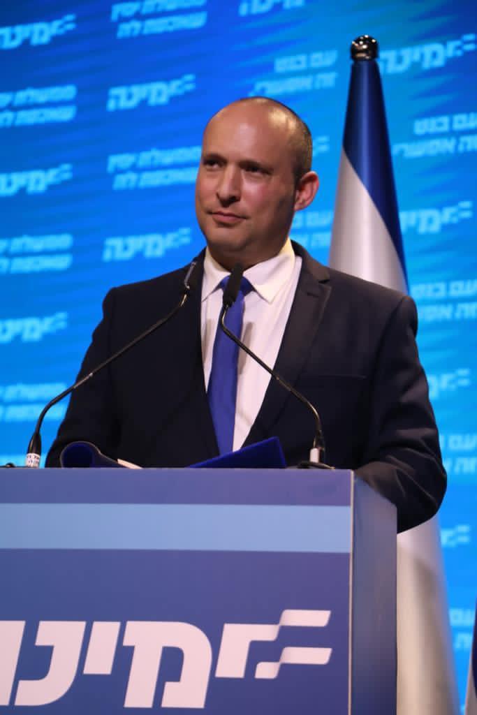 以色列8在野黨整合成功,如果通過同意,其中右派政黨聯盟「右傾」領導人班奈特將先出任總理一職。圖:翻攝自班奈特臉書