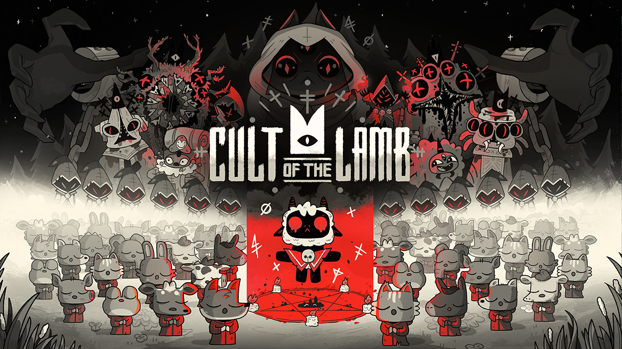 Devolver Digital 推出可愛系暗黑養成遊戲《進擊羔羊傳說 Cult of the Lamb》。圖:Devolver Digital提供