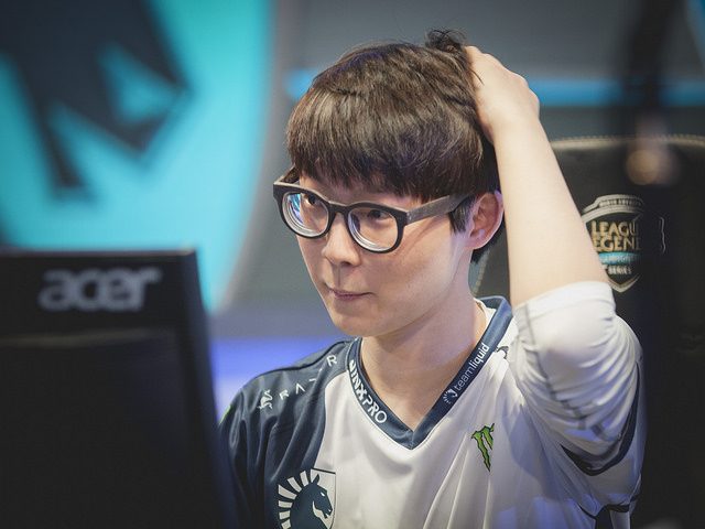Team Liquid上路選手「Reignover」김의진。   圖:翻攝自 LoL Esports Photos flickr