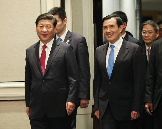 中國領導人習近平與前總統馬英九。圖:總統府提供(資料照片)